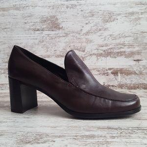 🔵NWT Worthington Brown Leather Offixe Heel